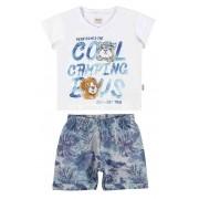 Conjunto Masculino Infantil Branco Cool Camping Boys Elian