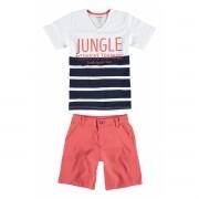 Conjunto Masculino Infantil Branco Jungle Carinhoso