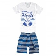 Conjunto Masculino Infantil Branco The Surf Rock Malwee