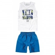 Conjunto Masculino Infantil Branco The Wave Malwee