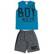 Conjunto Infantil Masculino Azul Boy Rules Abrange