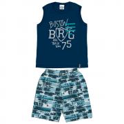 Conjunto Infantil Masculino Azul Marinho Boston Abrange