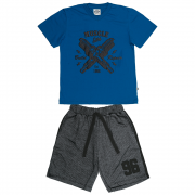 Conjunto Masculino Infantil Azul Muscle Abrange