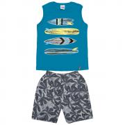 Conjunto Infantil Masculino Azul Prancha Abrange