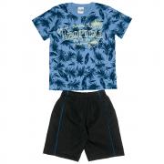 Conjunto Infantil Masculino Azul Tropical Abrange