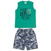 Conjunto Infantil Masculino Verde Boston Abrange