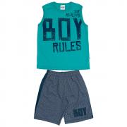 Conjunto Infantil Masculino Verde Boy Rules Abrange
