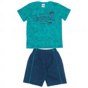 Conjunto Infantil Masculino Verde Tropical Abrange