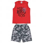 Conjunto Infantil Masculino Vermelho Boston Abrange