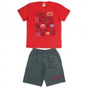 Conjunto Infantil Masculino Vermelho Games Abrange
