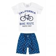 Conjunto Infantil Masculino Branco Bike Route Malwee
