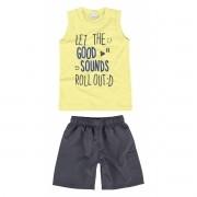 Conjunto Infantil Masculino Amarelo Good Sounds Malwee