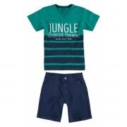Conjunto Masculino Infantil Verde Jungle Carinhoso