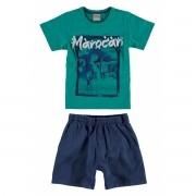 Conjunto Masculino Infantil Verde Marocan Carinhoso
