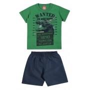 Conjunto Masculino Infantil Verde Wanted Elian