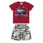Conjunto Masculino Infantil Vermelho Off Road Elian