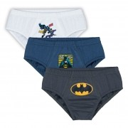 Cueca Infantil Kit 3 Batman Lupo