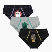 Cueca Infantil Kit 3 Star Wars Lupo