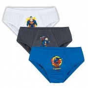 Cueca Infantil Kit 3 Superman Lupo