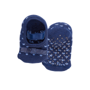 Meia Infantil Antiderrapante Azul Lacinho Lupo