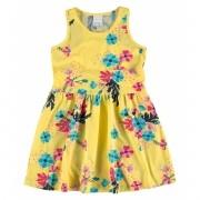 Vestido Infantil Amarelo Floral Malwee