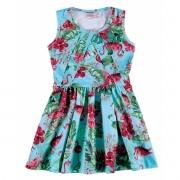 Vestido Infantil Azul Flamingo Carinhoso