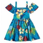 Vestido Infantil Azul Moana Malwee