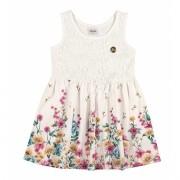 Vestido Infantil Branco Renda Elian