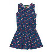 Vestido Infantil Azul Marinho Câmeras Bee Loop