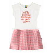 Vestido Infantil OffWhite Believe Bee Loop