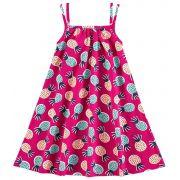 Vestido Infantil Rosa Abacaxi Kyly