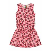 Vestido Infantil Rosa Câmeras Bee Loop