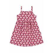 Vestido Infantil Rosa Corações Bee Loop
