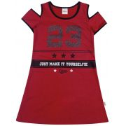 Vestido Infantil Vermelho 23 Elian