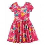Vestido Infantil Rosa Floral Malwee