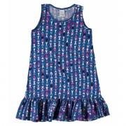 Vestido Infantil Azul Marinho Corações Malwee