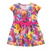 Vestido Infantil Rosa Borboletas Elian