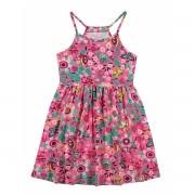 Vestido Infantil Rosa Floral Elian