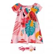 Vestido Infantil Rosa Tucano Zig Zig Zaa