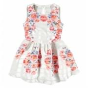 Vestido Infantil Vermelho Floral Carinhoso