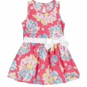 Vestido Infantil Vermelho Floral Colorittá