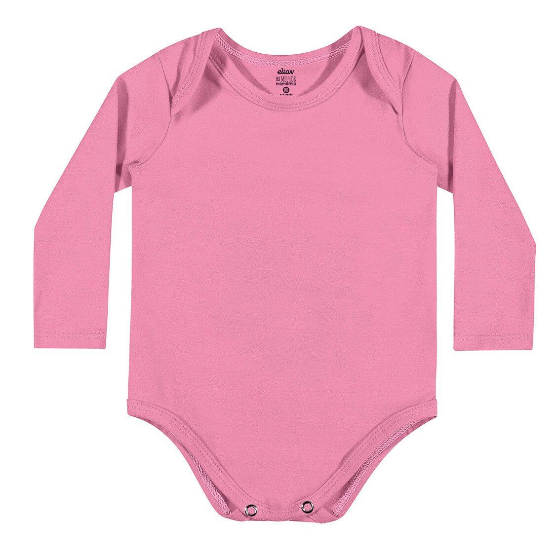 Body Infantil Feminino Inverno Rosa Elian
