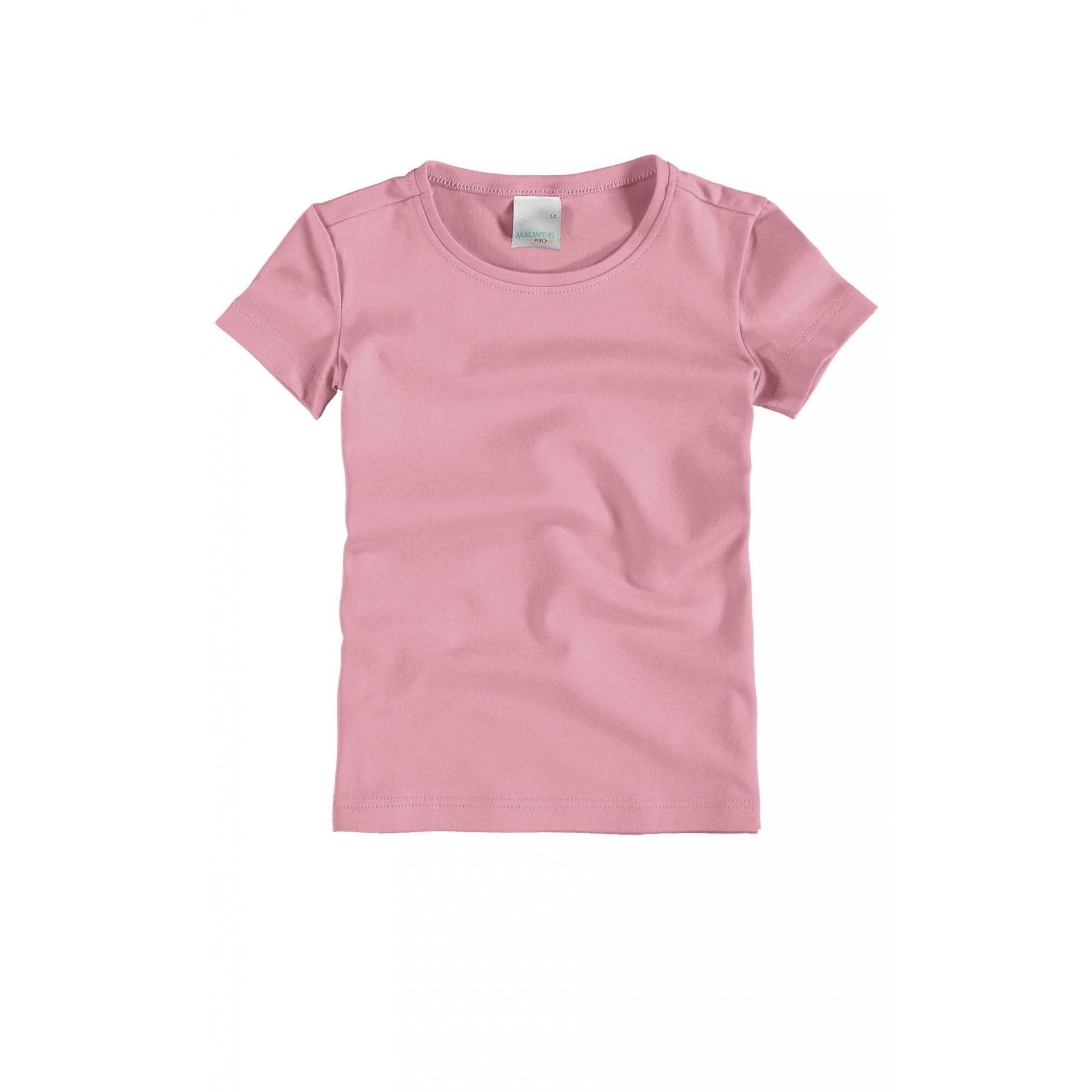 Camiseta Infantil Meia Manga Rosa Feminina Malwee