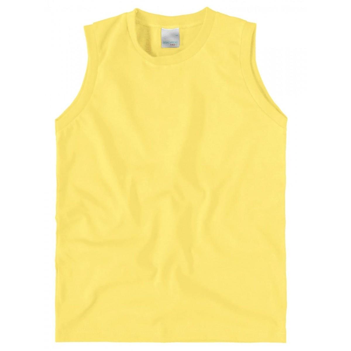 Camiseta Infantil Regata Amarela Masculina Malwee