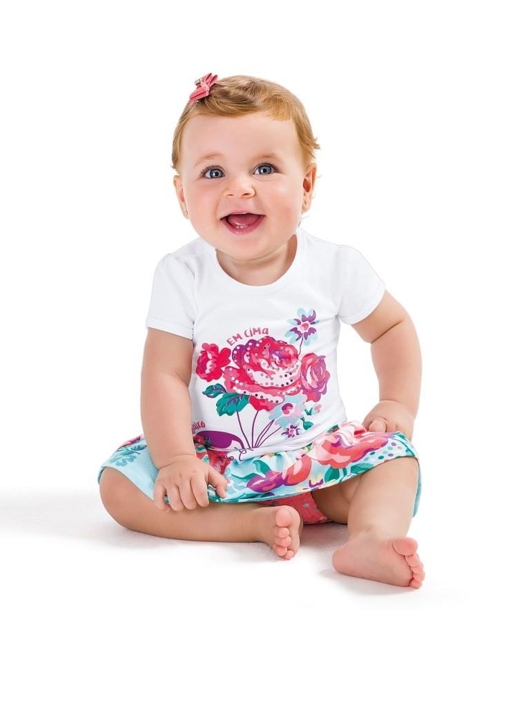 Conjunto Feminino Infantil Azul Menina Zig Zig Zaa