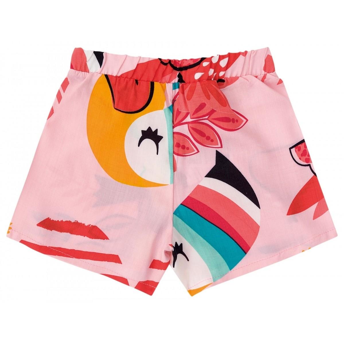 Conjunto Feminino Infantil Rosa Tucano Zig Zig Zaa