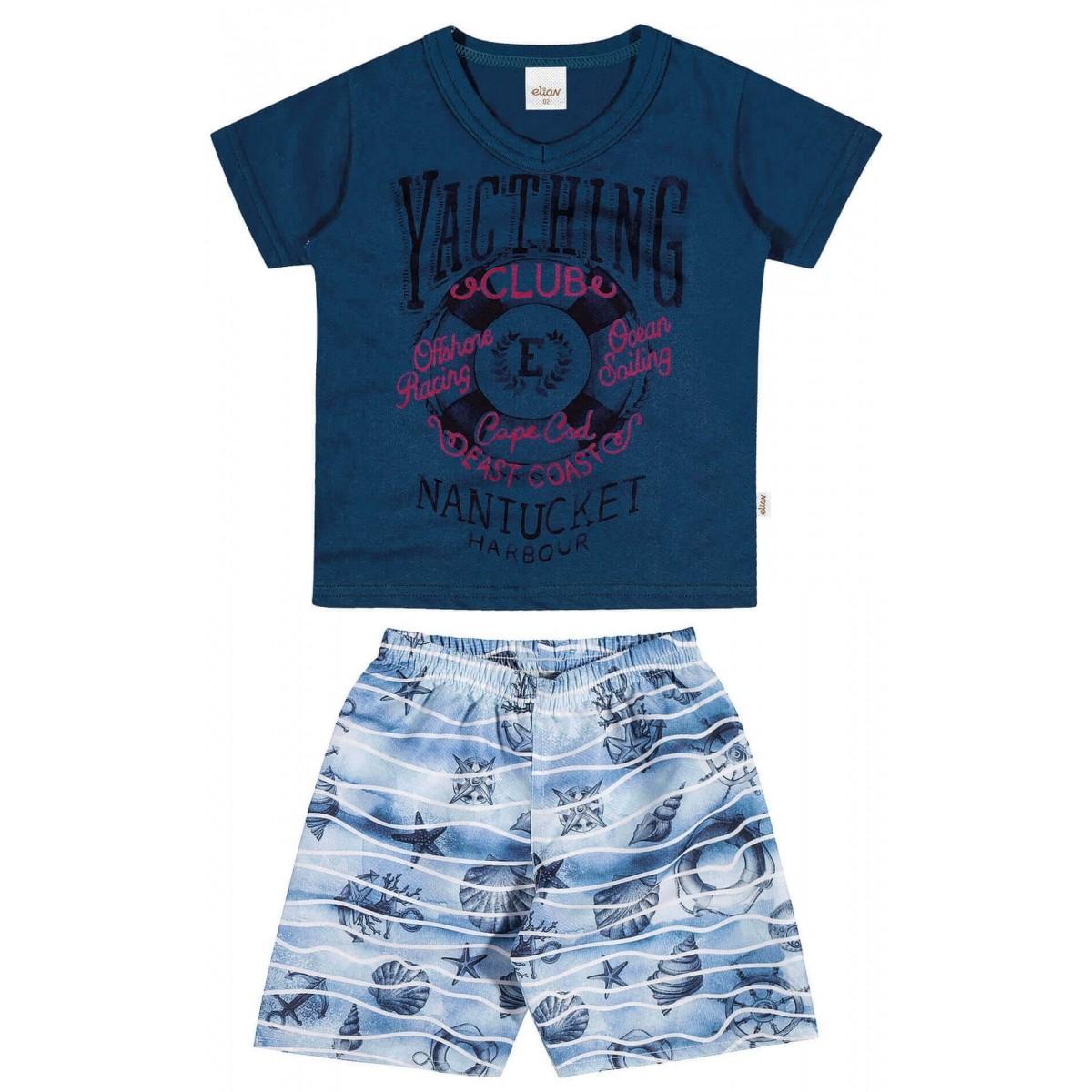 Conjunto Masculino Infantil Azul Marinho Yacthing Elian