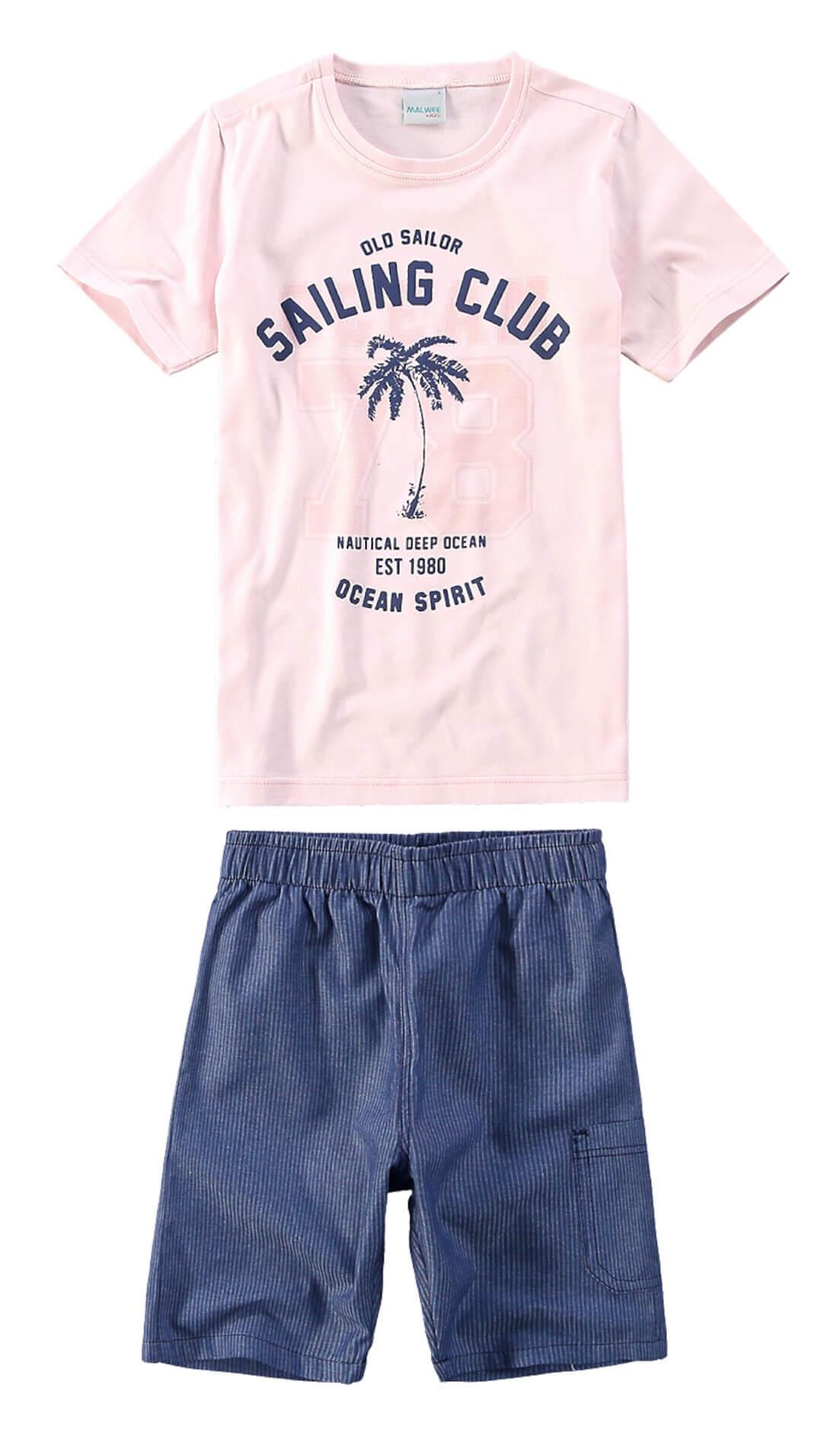 92c13fc4d Conjunto Infantil Masculino Rosa Sailing Club Malwee