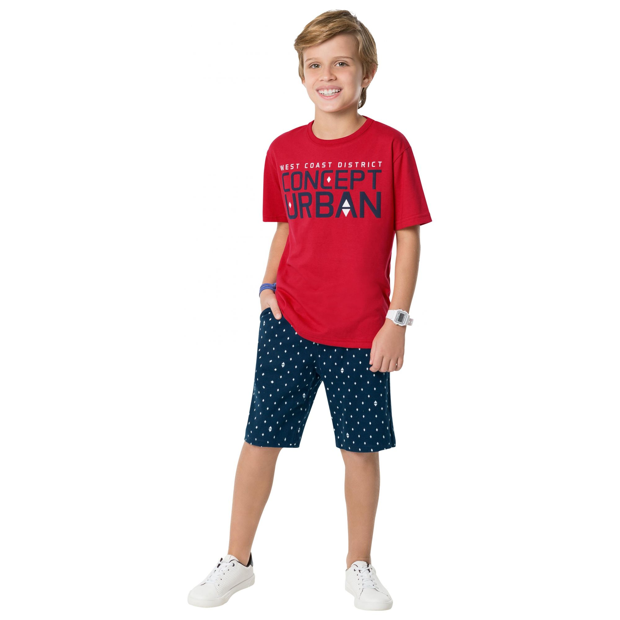 Conjunto Masculino Infantil Vermelho Urban Kyly