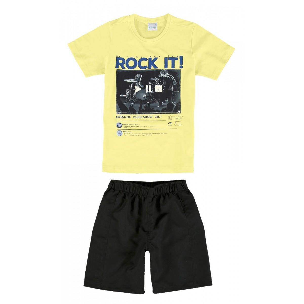 Conjunto Infantil Masculino Amarelo Rocky It Malwee